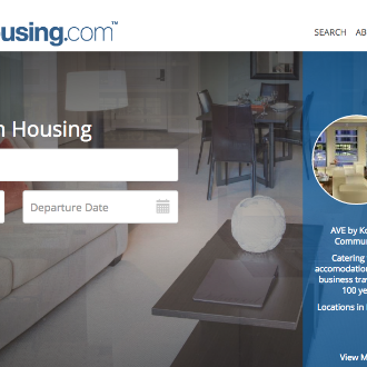 CorporateHousing.com screenshot